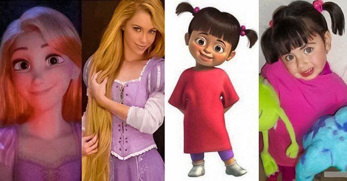 Estas personas tienen un parecido o son idénticos a personajes de dibujos animados y de películas. Desde los pitufos hasta boo de monsters inc