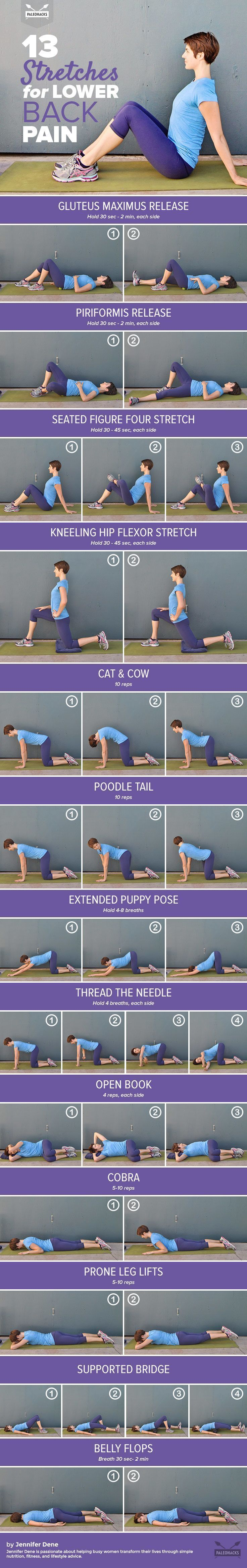 Relieve your lower back pain with these gentle yet effective stretches. #HipFlexorsRelief