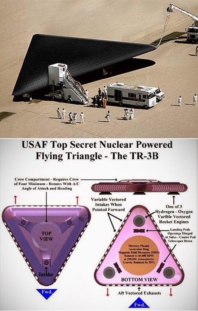 Resultado de imagen para ovni triangular TRB-35