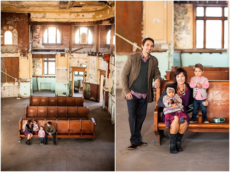 Family pictures at the old train depot | Cat Mayer Studio