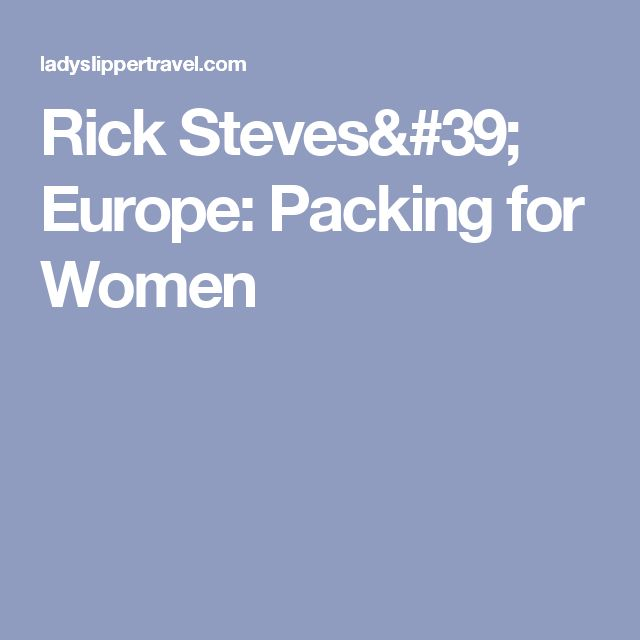 Rick Steves Europe Ng For Women