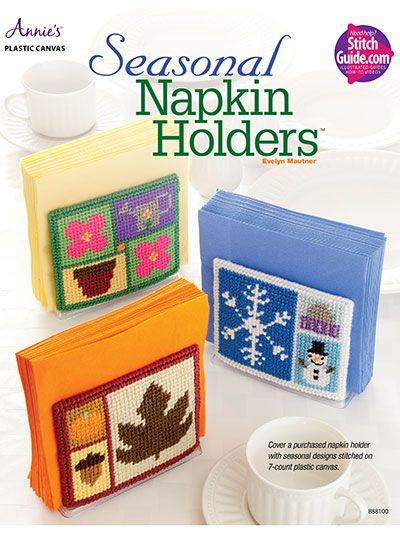 Seasonal Napkin Holders ~ easy skill ~ PLASTIC CANVAS ~ ON SALE NOW (Jun 6/16) - 43% OFF