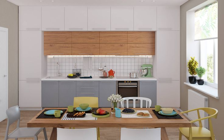 Кухня с мебелью в дизайнерском ремонте – стиль Берлин