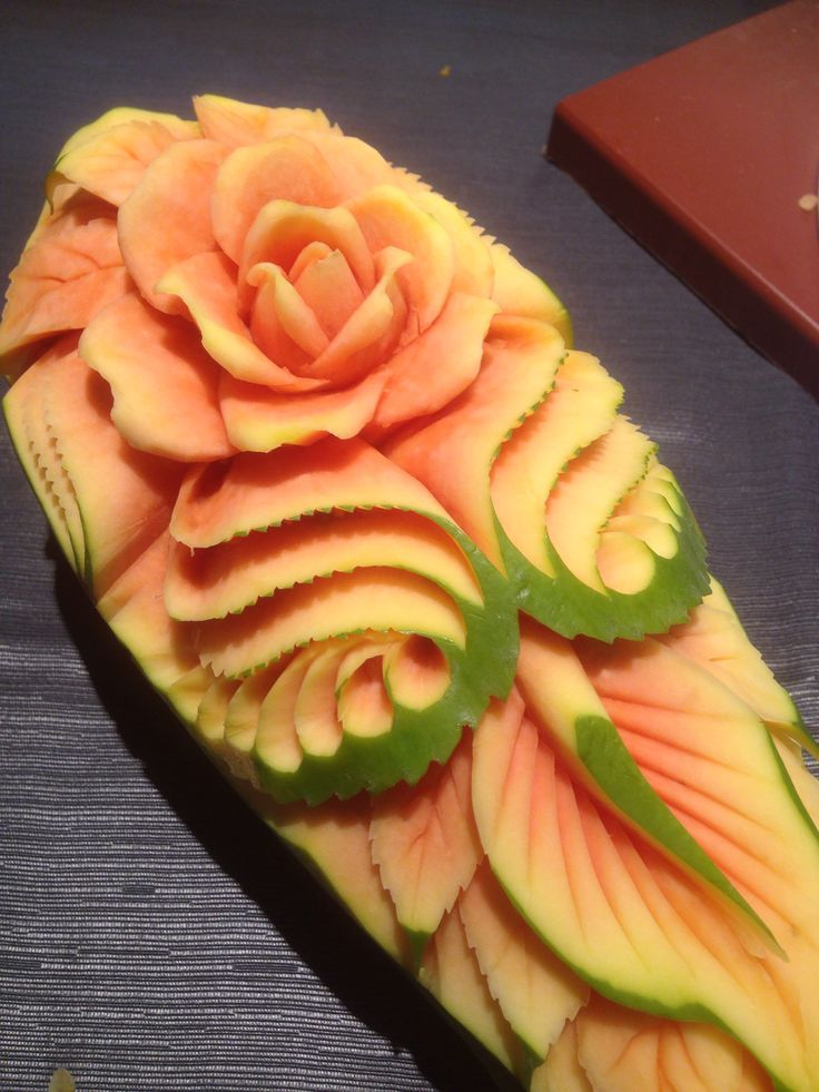 Papaya carving talla de fruta pinterest food art