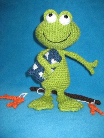 Crochet Pattern Amigurumi Frog Jimmy PDF by Millionbells on Etsy, $4.99