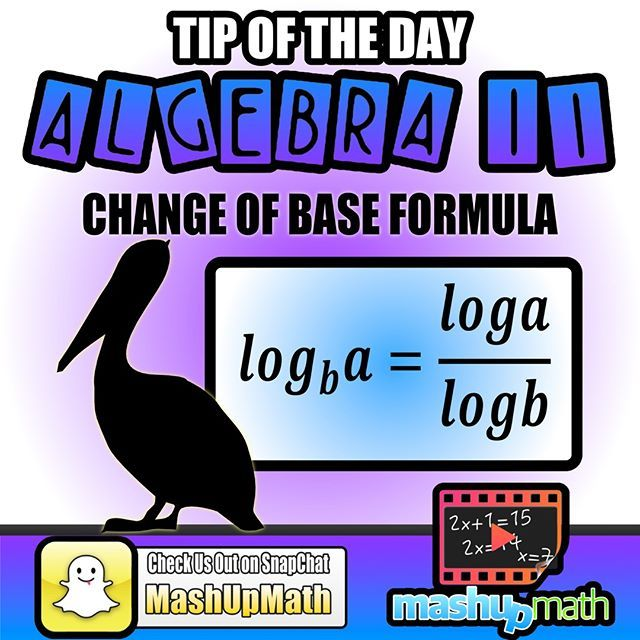 :notebook:Do you know the log change of base formula? :triangular_flag_on_post:TAG A STUDENT!  #Math #Maths #Mathematics #Science #School #Study #Homework #learn #learning #physics #engineering #physics #instagood #teachersfollowteachers #teacherlife #edu