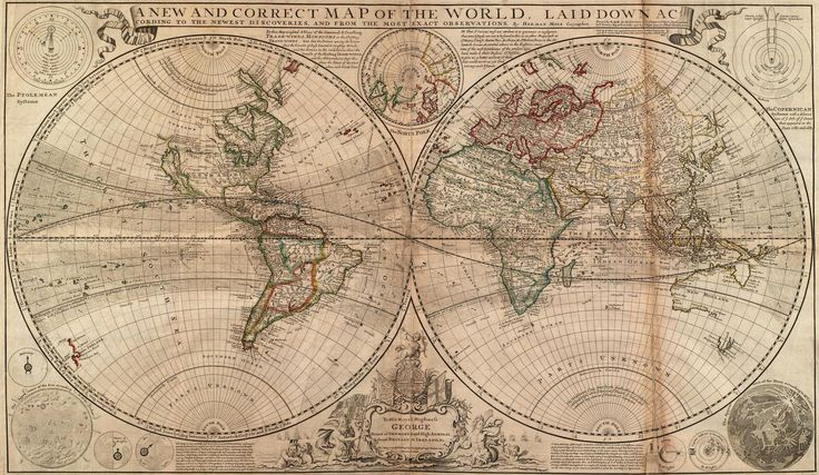 A very old map. It even has a crease in it