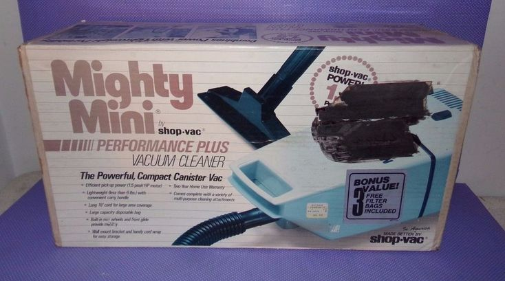 Vtg NOS Mighty Mini Portable Vacuum Cleaner Canister Home Car Hand Held Shop Vac