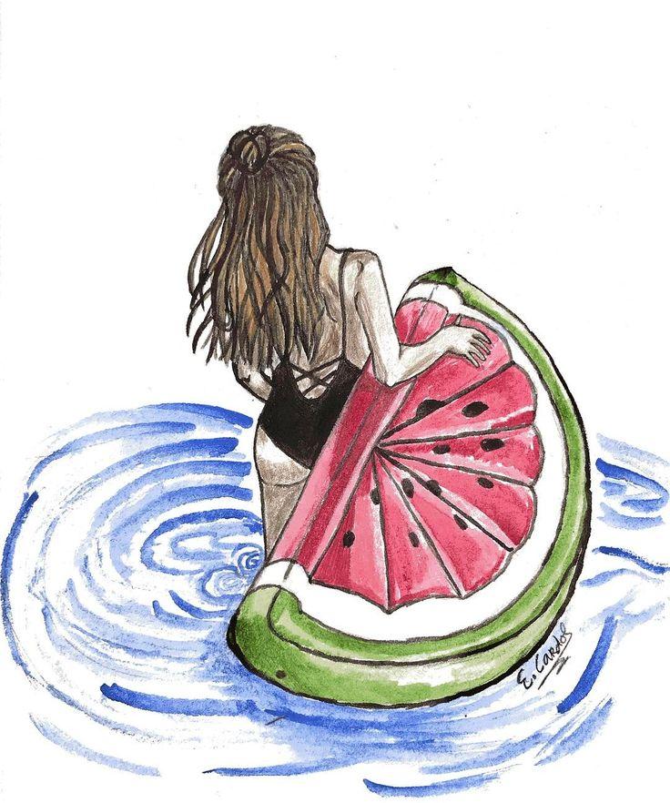 #fashionillustration #beachvibes #summerstyle #melon #rosy