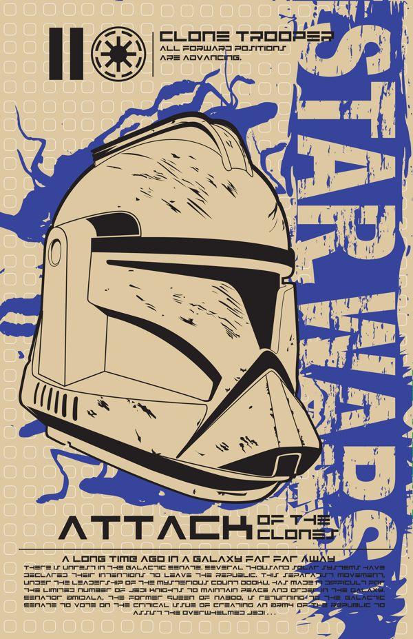 Star Wars Poster Series by Kegan Rivers, via Behance
