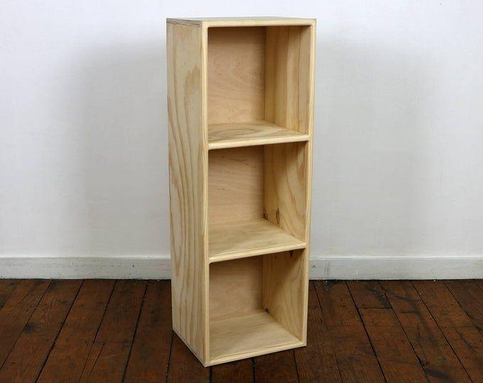 Cube Bookshelf Finished Unfinished Modern Apartment Minimalist Vinyl Storage Furniture With Images Small Bookshelf
