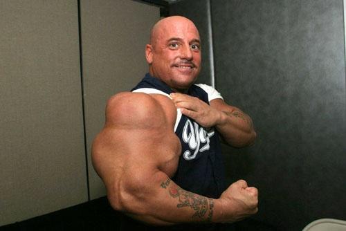 Gregg Valentino holds the record of having biggest biceps ...  Gregg Valentino...