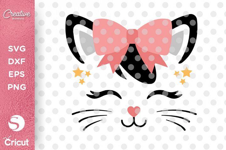 Cute Cat Face Svg Dxf Girl T Shirt Svg Cat Face Svg 153811 Svgs Design Bundles Cute Cat Face Cat Face Cat Birthday