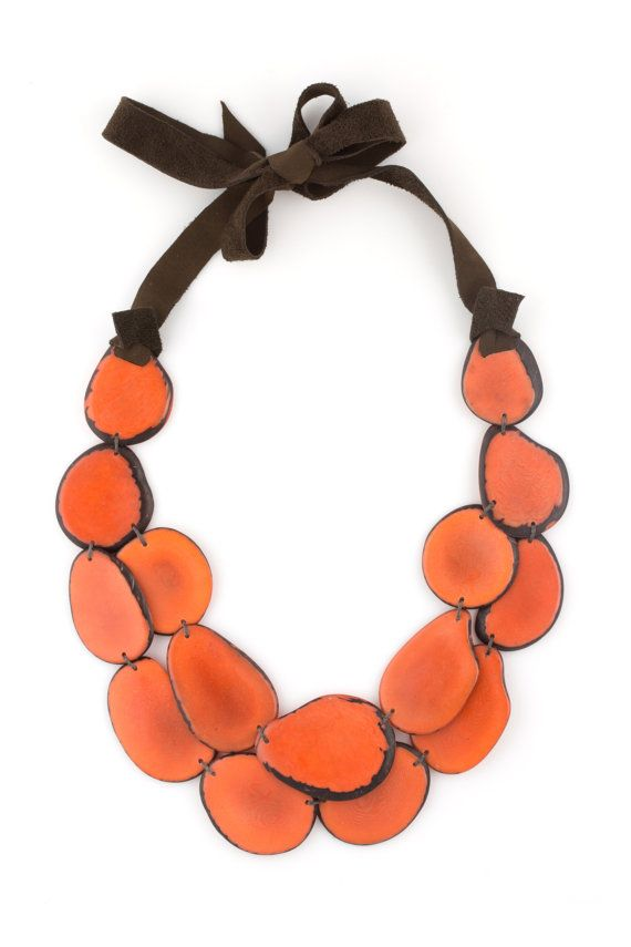 Tagua & Leather Eco Friendly Statement by LaPucaraCollections, $58.00