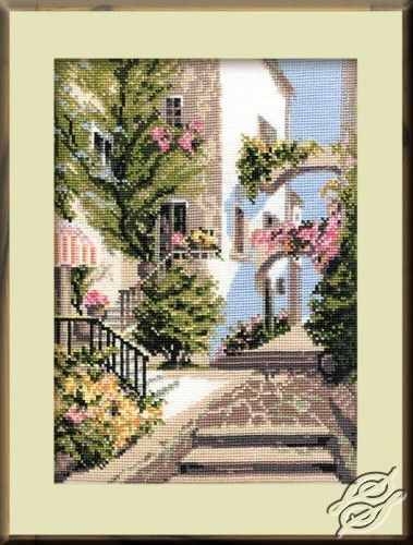 The Italian courtyard - Cross Stitch Craft Kits by RIOLIS - 373