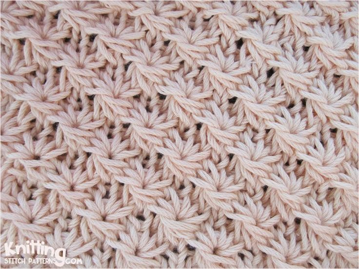 The stitch create a very interesting effect - knit texture looks a lot like daisy flower. | knittingstitchpatterns.com