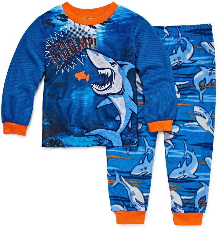 LICENSED PROPERTIES Shark 2 Piece Pajama Set - Toddler Boys