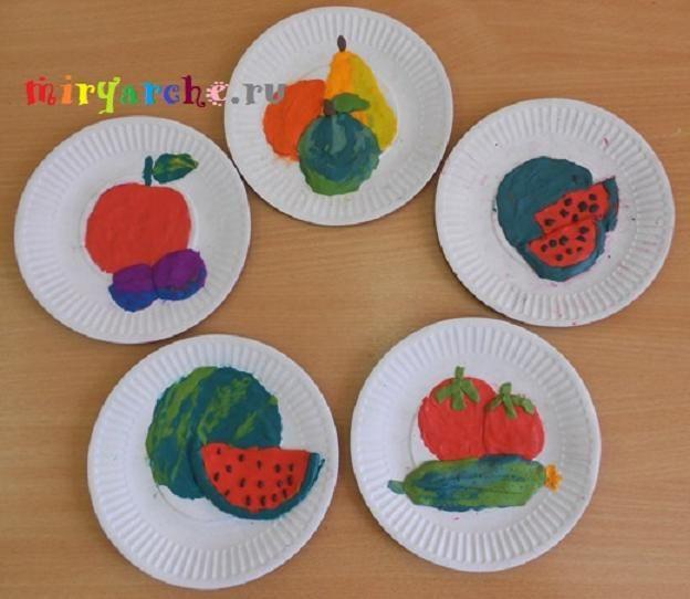 Лепим овощи и фрукты.