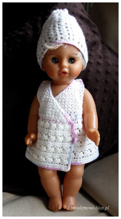 Baby Doll in the White Crochet Outfit