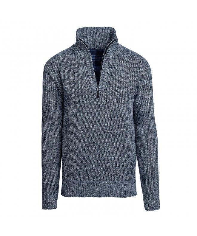 dd0fe83e51f7 Men s Casual Fleece Lined Half-Zip Sweater Jacket - Light Blue -  CG188OW02G2