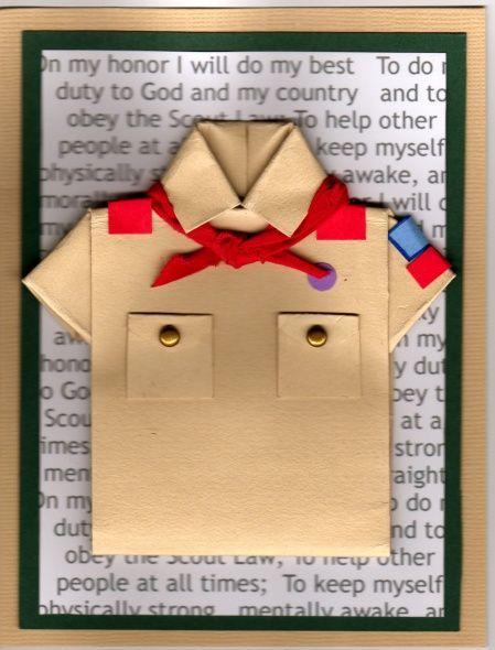 Boy Scout card ~ Class A Uniform shirt