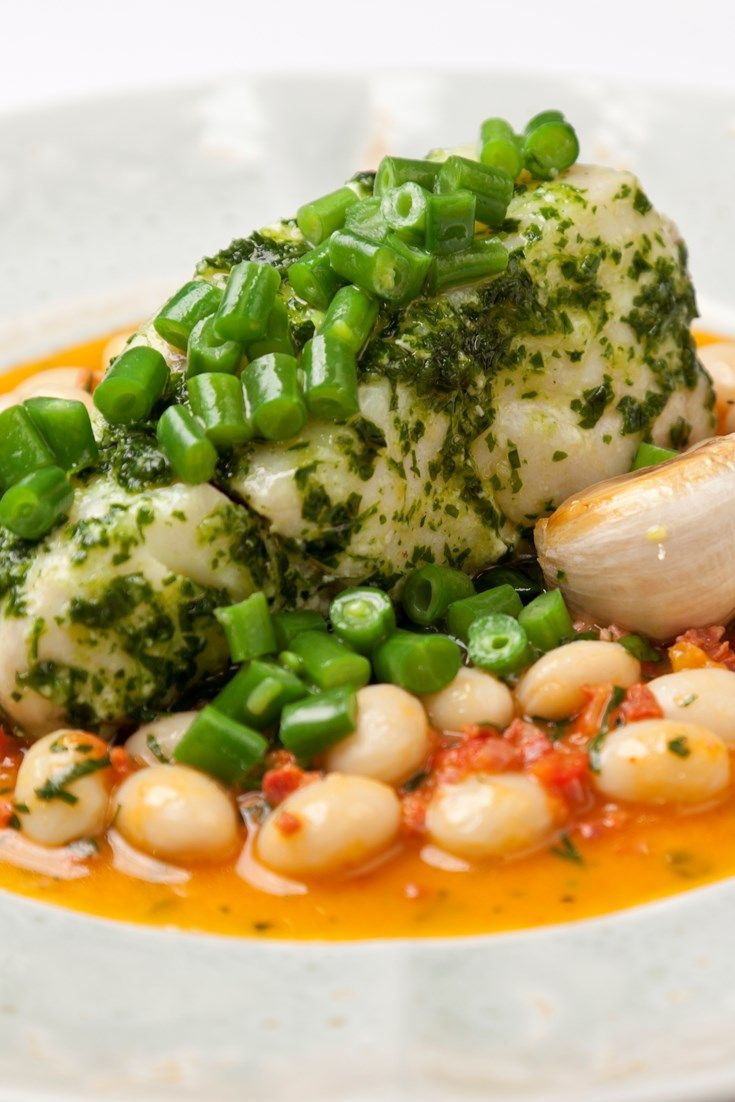 Adam Bennett's cod with white beans and chorizo dish is a feast for the eyes and the palate