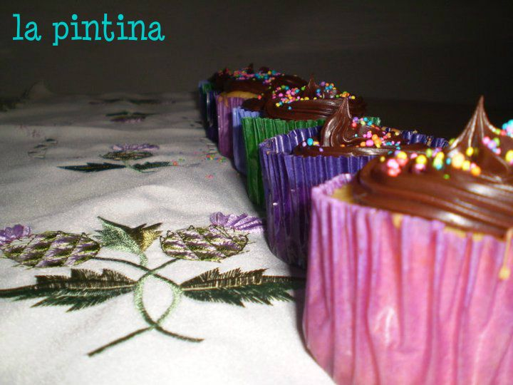 thistle cupcakes