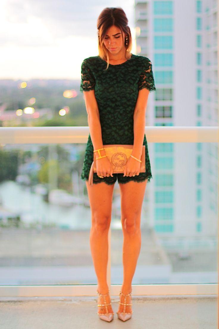 amanda tur, a fancy affair, a fancy affair blog, miami, fashion, miami bloggers, blogger, brasilian, fall fashion 2014, zara green lace romper