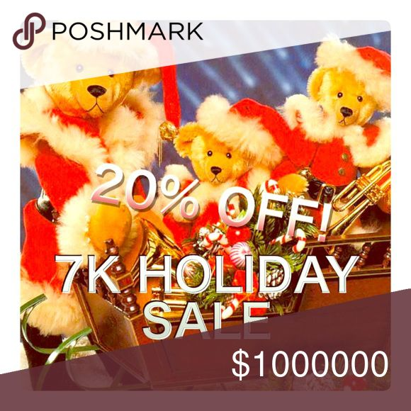 🎄PLZ SHARE.🎁20% OFF!🎁2 or more SALE!🎄 🎄THX BEARY, BEARY MUCH 4 FOLLOWING ME! 🐻❤️🐻 I reached 5K at the end of October 2016!!! Then reached 6K soon after on 11/13!!! 7K on 12/1. 👏🏽👏🏽👏🏽🎈🎈🎈🙃🙃🙃🎉🎉🎉 BEARY HAPPY!!! 🐻😊🐻 To Celebrate, I currently have a 20% OFF BUNDLE SALE. Until this Sale ends, my BUNDLE FEATURE is set for 20% OFF of 2 or More Items. 🐻🍯🐻 A TRULY SWEET DEAL!!! 🐻🍯🐻 If you want an even DEEPER DISCOUNT, MAKE ME A BUNDLE OFFER! 👍🏽 To purchase 1 Item at a…