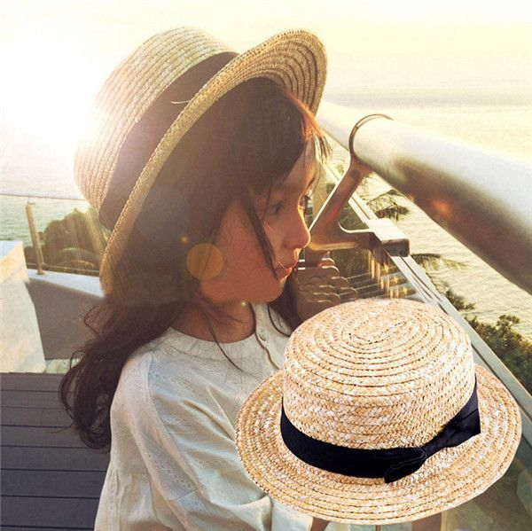 Item Type: Sun HatsPattern Type: SolidDepartment Name: AdultStyle: CasualGender: WomenMaterial: StrawModel Number: AEJ-7KIDSCrown: 8cmWide Brim: 4CMColor: Blue