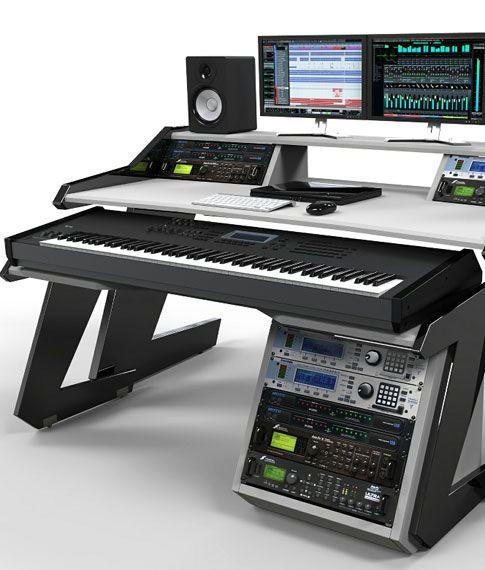 buy home studio desk workstation furniture modular system design allows you to set up how. Interior Design Ideas. Home Design Ideas