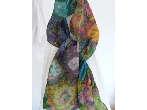 Silk Scarves 100& Silk Handpainted By Artist Christine Awad Schmalz