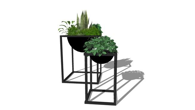 Large preview of 3D Model of Modern planters