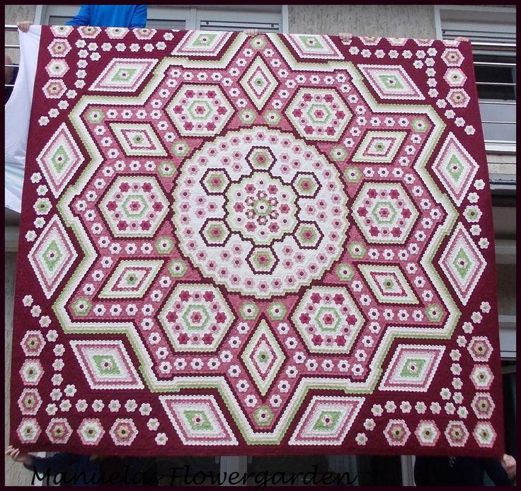 """Hexagon Quilt """"La Passion"""""""
