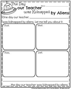 Fun Narrative Writing Prompt - The Day our Teacher was Kidnapped by Aliens.