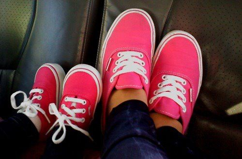 Mommy & Baby Vans. <3 just in boy colors and daddy can have a pair too
