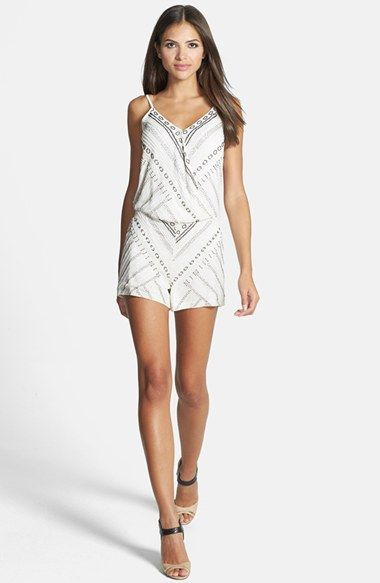 Parker 'Harrison' Surplice Beaded Romper available at #Nordstrom
