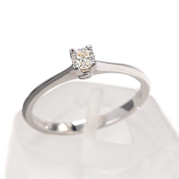 Μονόπετρο  δαχτυλίδι  Κ18 λευκόχρυσο διαμάντι 8469