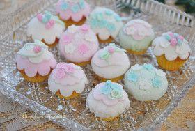マシュマロフォンダン ミニカップケーキ