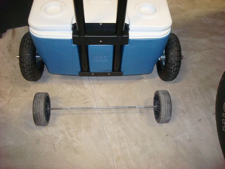 Upgrade your cooler wheels for the beach… www.instructables… – For the beach