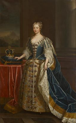 Caroline Wilhelmina of Brandenburg-Anspach (1683-1737) Queen of King George II by C.Jervas