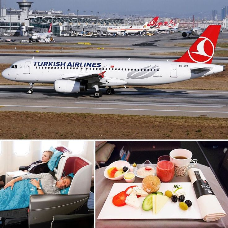 Turkish Airlines - National flag carrier airline of Turkey. 4th largest carrier in the world by number of destinations. #turkey #airlines #travel