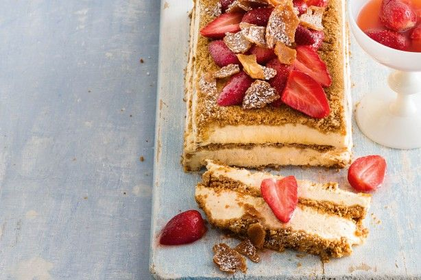 This dessert brings Christmas to the table with eggnog and gingerbread.