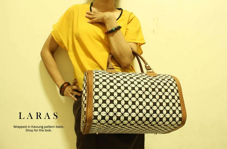 Laras Mini Kawung Bowler Bag. The fab bag. IDR 350K