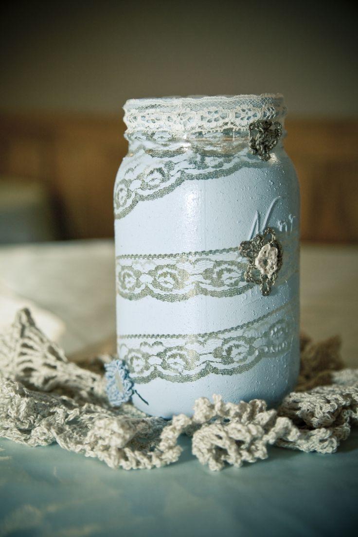 Mason jar crafts wedding - Mason Jar Idea