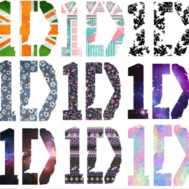 I Love One Direction Logo 1D logos. So cool. | 1...