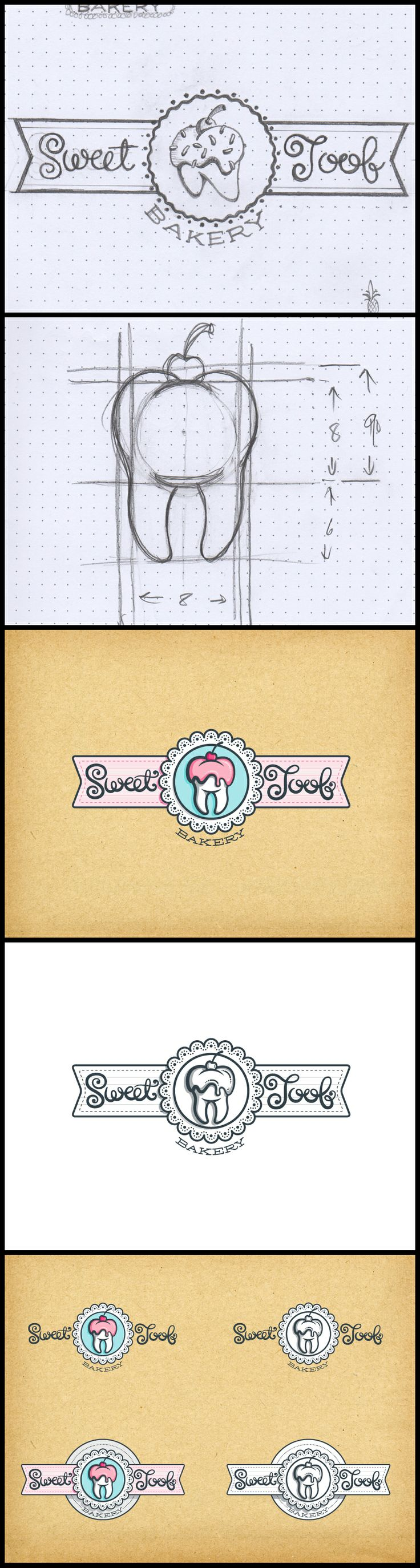 Sweet Toof bakery identity - Option02. Another cool options. Really like this one as well.