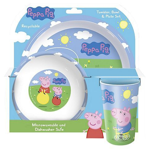 Tesco direct: Peppa Pig & George 3 Piece Dinner Set