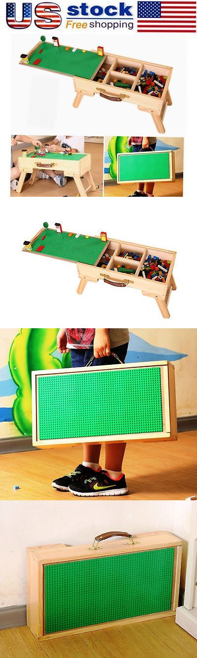 Mixed Lots 183451: Lego Duplo Play Table Wooden Portable Folding Table With Chalkboard And Storage Us -> BUY IT NOW ONLY: $72.8 on eBay!
