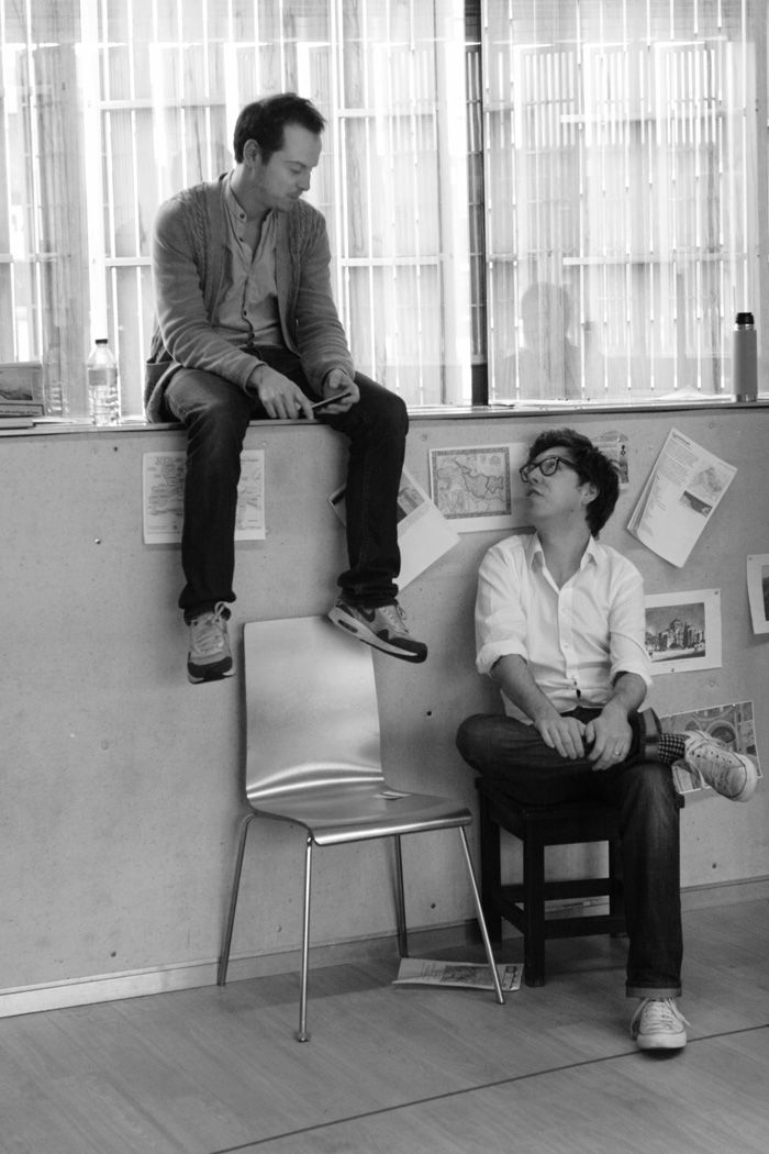 Emperor and Galilean | Andrew Scott and Ben Power in rehearsal | Source: http://exeuntmagazine.com/features/ben-power/emperor-and-galilean_-andrew-scott-and-ben-power-in-rehearsal/